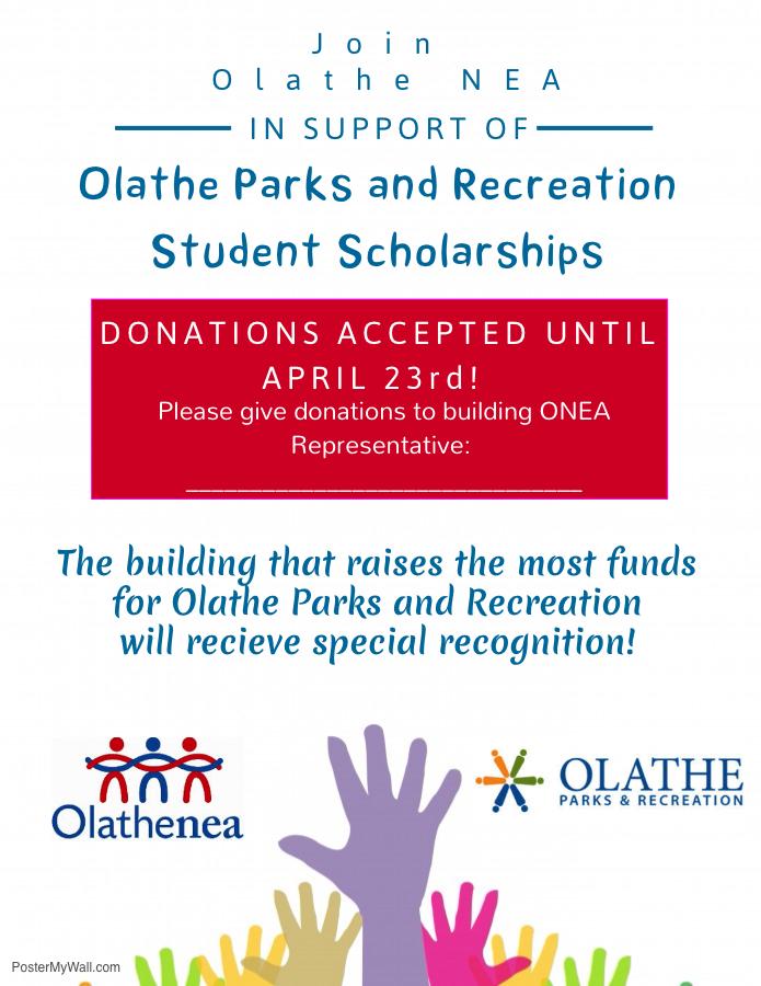 Olathe NEA's Olathe Parks & Rec Student Scholarship | Olathe NEA